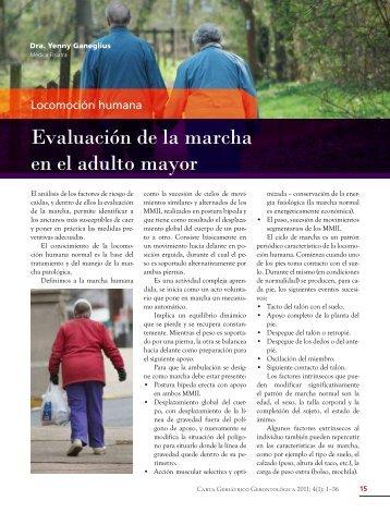 Evaluación de la marcha en el adulto mayor