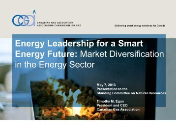 Energy Leadership for a Smart Energy Future - Canadian Gas ...