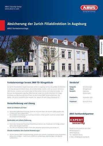 Absicherung der Zurich Filialdirektion in Augsburg - ABUS Security ...