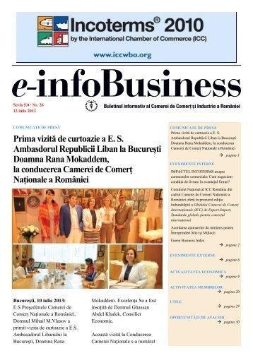 e-infoBusiness nr. 26/12.07.2013 - Camera de Comert si Industrie a ...