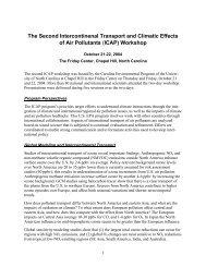 (ICAP) Workshop - UNC Institute for the Environment
