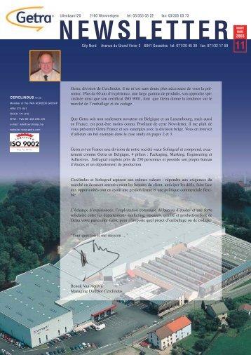 Getra Newsletter 11 - van aerden group