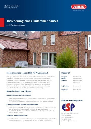 Absicherung eines Einfamilienhauses - ABUS Security-Center