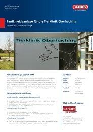 Panikmeldeanlage für die Tierklinik Oberhaching - ABUS Security ...
