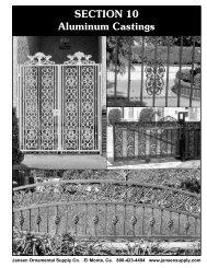 SECTION 10 Aluminum Castings - Jansen Ornamental Supply