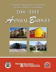 2011-2012 Annual Budget - Community Development Commission