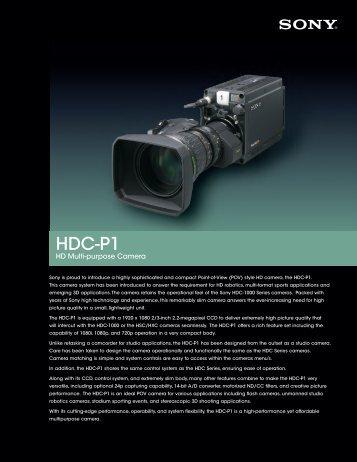 HDC-P1 - Sony.com