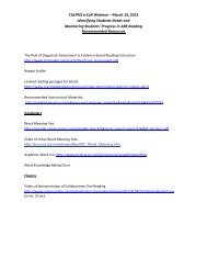 Recommended Resources Handout - CALPRO