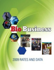 2009 Rates and data - Bio Business