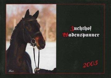 Hengstkatalog 2005 - Zuchthof Wadenspanner