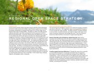 regional open space strategy - Green Futures Lab - University of ...