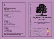 Angebote für Trauernde - Evangelische Kirchenpflege