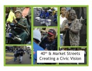 40th & Market Streets Creating a Civic Vision - Serendip
