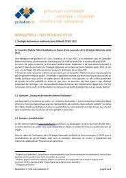 Newsletter Numéro 1/2011 - Palliative ch