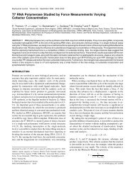 T7 RNA Polymerase Studied by Force Measurements Varying ... - Ens