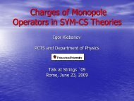 Charges of Monopole Operators in SYM-CS Theories - strings 2009
