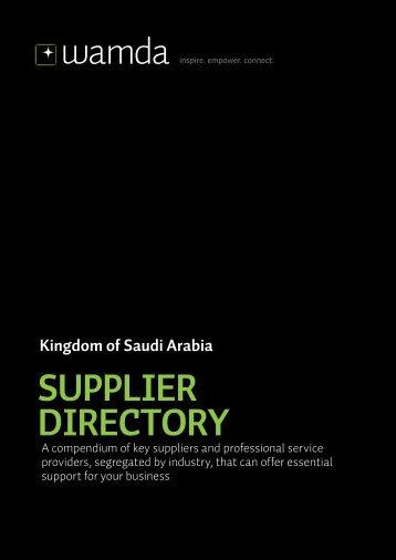 Kingdom Of Saudi Arabia SUPPLIER DIRECTORY - Wamda.com
