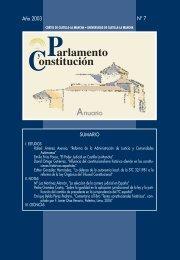 Parlamento y Constitución. Anuario núm. 7 (2003) - Cortes de ...