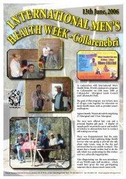 International Men's Health Week – Collarenebri - WAMS