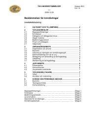 Bestämmelser för knivtävlingar - Svensk Knivförening