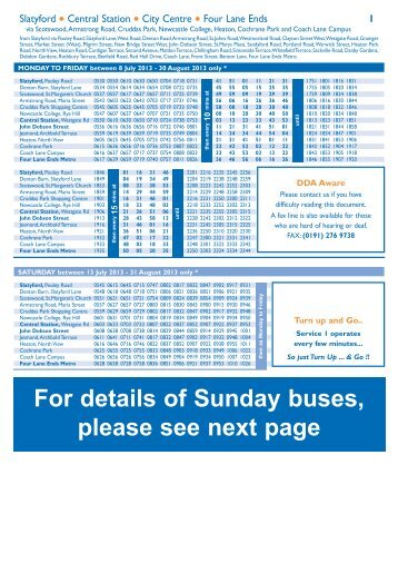 how to read a stagecoach bus timetable