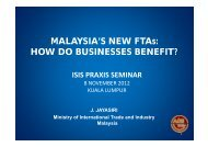 """""""Malaysia's New FTAs: How do Businesses Benefit ... - ISIS Malaysia"""