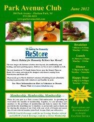 June 2012 Newsletter - Park Avenue Club