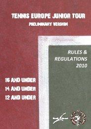 30.12.09 2010 Tennis Europe Rules & Regulations - STZ