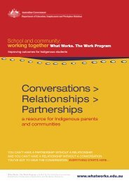 Conversations, relationships, partnerships: A resource ... - What Works