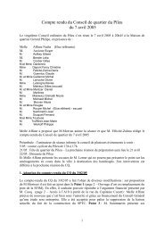 Conseil de quartier du 7 avril 2005 - Ville de Palaiseau