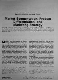 Market Segmentation, Product Differentiation, and Marketing Strategy