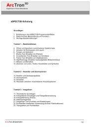 aSPECT 3D Schulungsplan.pdf - ArcTron