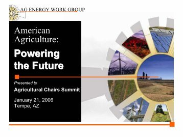 Powering the Future - State Agriculture and Rural Leaders