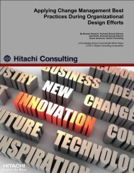 Applying Change Management Best Practices During - Hitachi ...