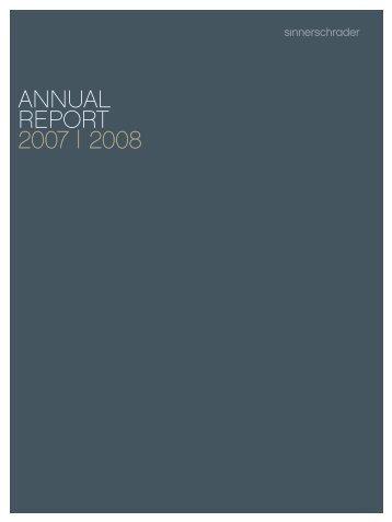 ANNUAL REPORT 2007 | 2008 - SinnerSchrader AG