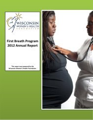 2012 Program Annual Report - Wisconsin Women's Health Foundation