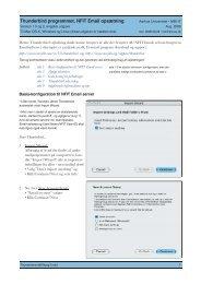 Thunderbird programmet, NFIT Email opsætning - For brugere ...