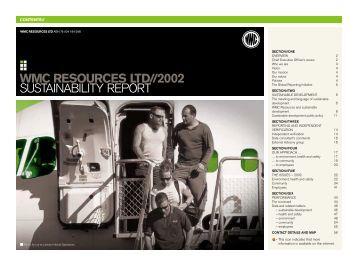 WMC Sustainability Report 2002 - BHP Billiton