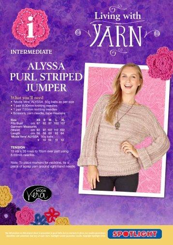 alyssa purl striped jumper - Spotlight Promotions