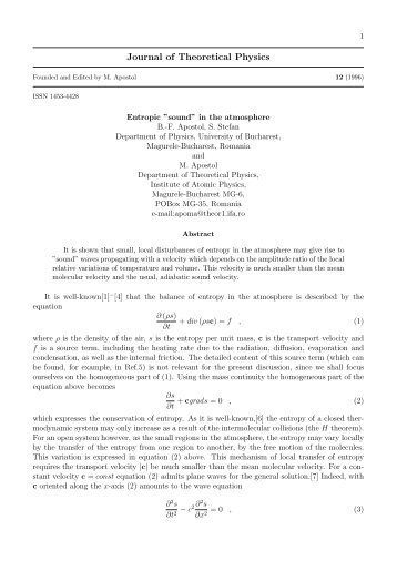 Journal of Theoretical Physics