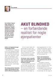 AKUT BLINDHED - Øjenforeningen Værn om Synet