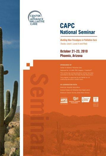 National Seminar - Center to Advance Palliative Care