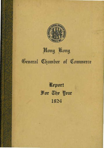 1924 - The Hong Kong General Chamber of Commerce