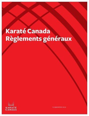 accéder aux nouveaux règlements généraux - Karate Canada