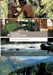 THE FOREST INVESTMENT FORUM - PROFOR