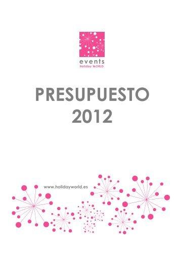 Dossier Menús Boda 2012