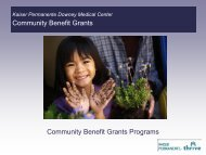 Kaiser Permanente Downey Medical Center 2010 Community ...