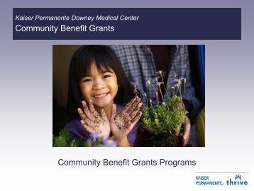 Kaiser Permanente Downey Medical Center 2010 Community ...