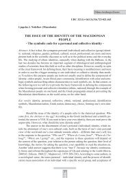 THE ISSUE OF THE IDENTITY OF THE MACEDONIAN PEOPLE ...