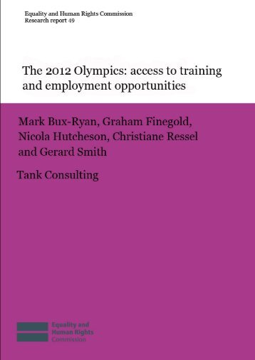 The 2012 Olympics: access to training and - Management and ...